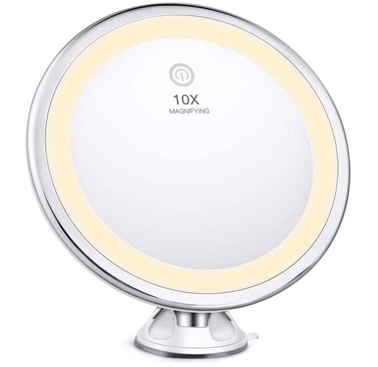 Bestope Kosmetikspiegel mit 10x Vergrößerung & LED-Beleuchtung für 16,09€ inkl. Prime (statt 23€)