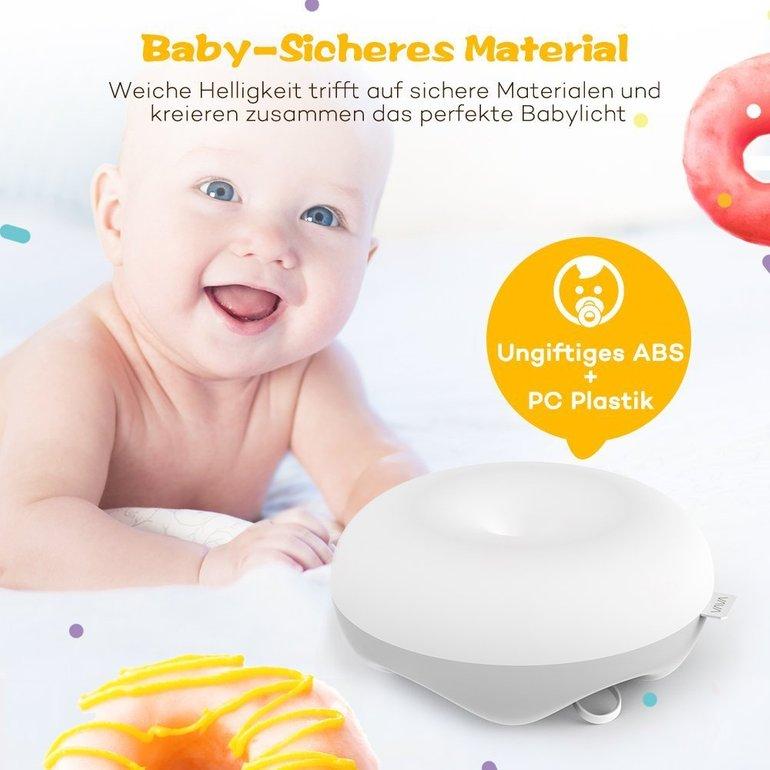 VAVA Baby Nachtlicht mit USB-Ladefunktion für 16,99€ (statt 25€)