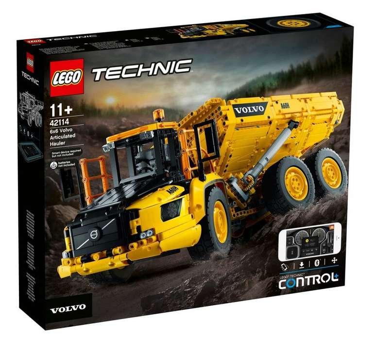 Lego 42114 Technic Knickgelenkter Volvo-Dumper (6x6) mit App Steuerung für 194,76€ (statt 220€)