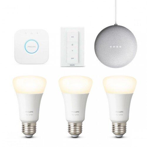 Philips Hue White E27 Bluetooth Starter Kit + gratis Google Nest Mini für 79€ inkl. VSK
