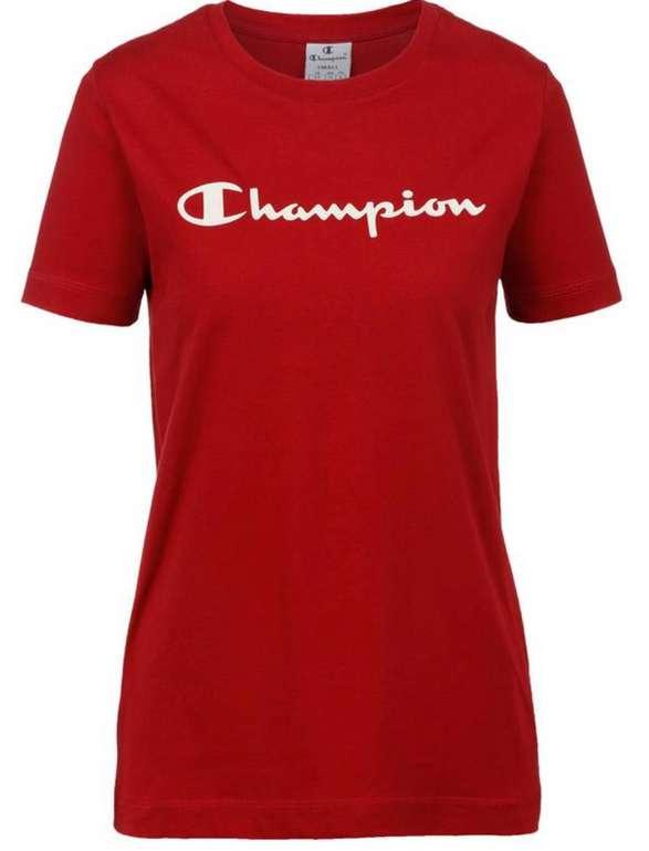 SportScheck: 15% Rabatt auf Streetwear - z.B. Champion Damen T-Shirt in Rot für 16,66€ inkl. Versand (statt 25€)