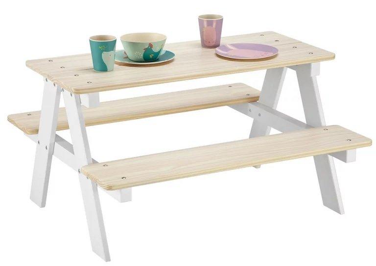 Kindertisch aus Kiefer in Weiß/Naturfarben für 41,42€ inkl. Versand (statt 50€)