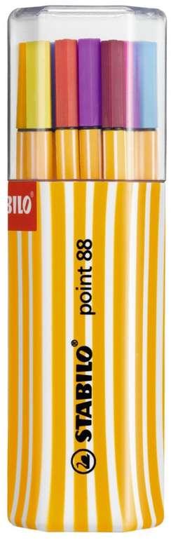 Stabilo Fineliner Point 88 - 20er Pack mit verschiedenen Farben für 7,79€ bei Filialabholung (statt 15€)