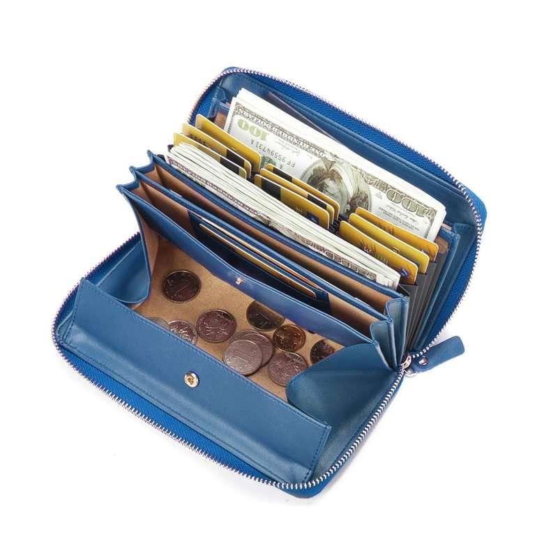 Joseko Brenice Damen PU-Leder Geldbörse mit RFID-Schutz für 16,99€ inkl. VSK