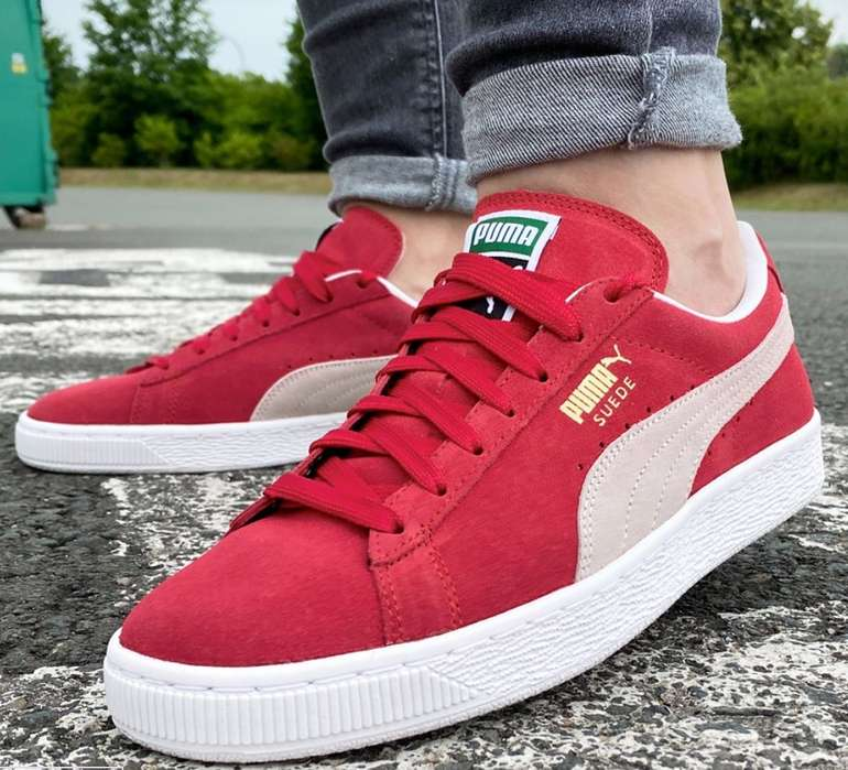 Puma Suede Classic Leder Sneaker in Rot für 38,94€ inkl. Versand (statt 45€)
