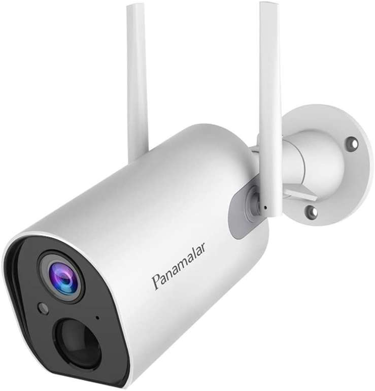 Panamalar Outdoor WLAN 1080P Überwachungskamera mit 15.000 mAh Akku für 53,99€ inkl. Versand (statt 90€)