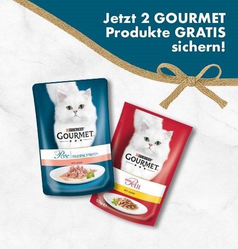 Purina Gourmet Katzenfutter (2 aus 4 zur Wahl) komplett gratis anfordern