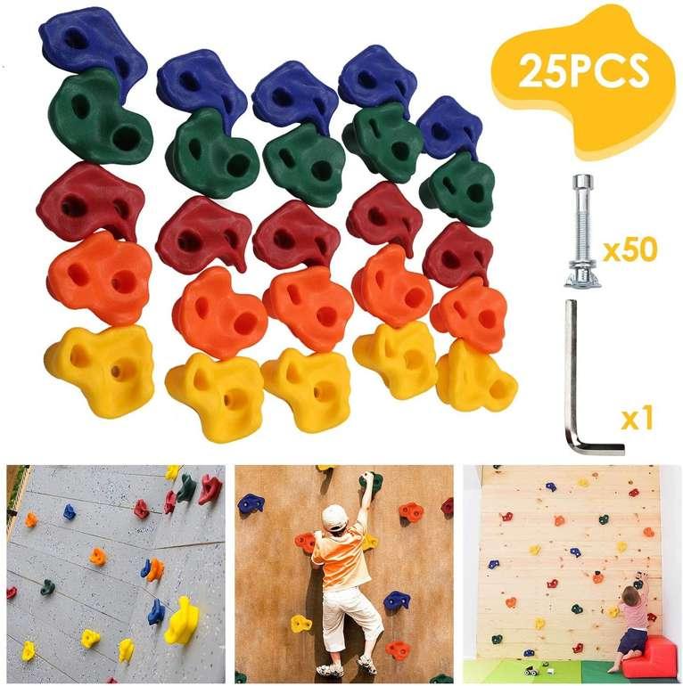 Hengda 25er Pack Kinder Klettergriffe für 29,39€ inkl. Versand (statt 42€)