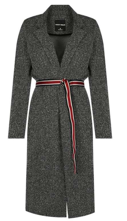 Tally Weijl Grauer Mantel mit Gürtel für 13,99€inkl. Versand (statt 50€) - S und M!