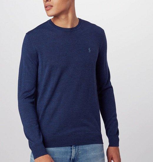 Polo Ralph Lauren Rundhals Herren Pullover (Feinstrick / 100% Wolle) für 61,56€ inkl. Versand