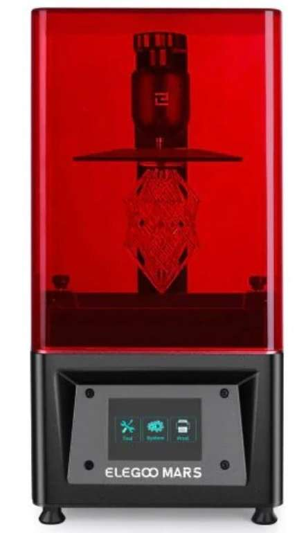 "Elegoo Mars UV Photocuring LCD MSLA 3D Drucker mit 3,5"" Farb-Touchscreen für 239,98€"