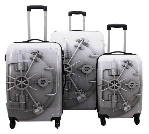 F 23 Hartschalen Trolley-Set für 59,90€ (70 + 60 + 50 cm) mit Zahlenschloss 60€