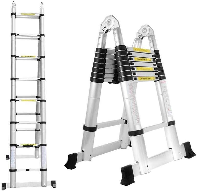 Verschiedene Wolketon Alu Teleskopleitern günstiger, z.B. 5 Meter für 88,89€