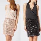 Only Kleid mit V-Ausschnitt in Wickeloptik für 29,99€ (statt 40€)
