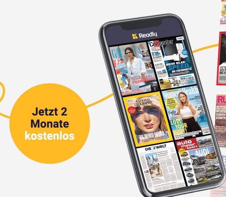 """2 Monate die Readly """"Magazin Flatrate"""" kostenlos testen (ab dem 3. Monat dann 9,99€ mtl.)"""