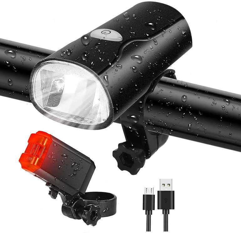 Tatopa wiederaufladbares LED Fahrradlicht Set für 8,96€ inkl. Prime Versand (statt 13€)