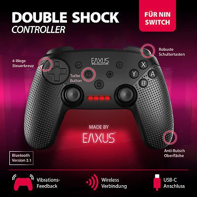 Eaxus Pro Double Shock Nintendo Switch Gamepad bzw. Controller für 18,99€ inkl. Versand (statt 27€)