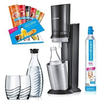 Sodastream Wassersprudler Crystal 2.0 mit 2 Karaffen und 2 Gläsern für 90,63€ inkl. Versand (statt 109€)
