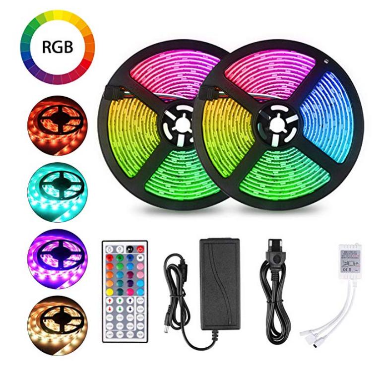 10m Jayol Wasserfestes LED-Strip-Kit mit 44 Tasten Fernbedienung für 20,99€