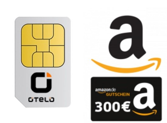 Vodafone otelo Allnet-Flat Max mit 20GB (LTE50) für 31,98€ + Amazon 300,- € Geschenkgutschein