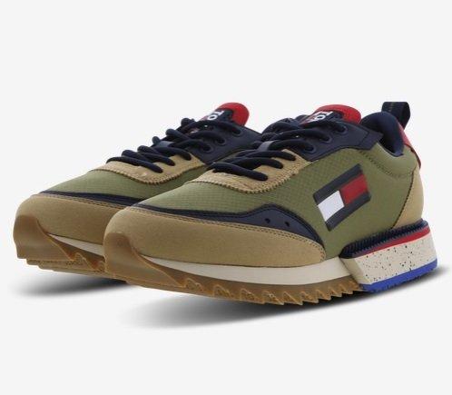 Tommy Jeans Cleated Tjm Runner Mix Herren Sneaker für 59,99€ inkl. Versand (statt 120€)