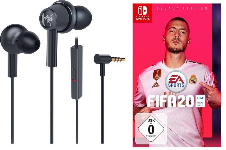 Razer Hammerhead Duo Nintendo Switch Kopfhörer + Fifa 20 für 41,98€ (statt 80€)