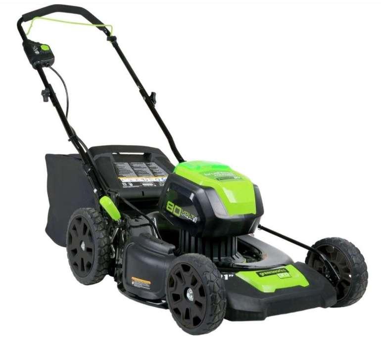 """Greenworks 80-V Rasenmäher """"2501407 GL"""" mit Radantrieb (ohne Akku und Ladegerät) für 161,95€"""