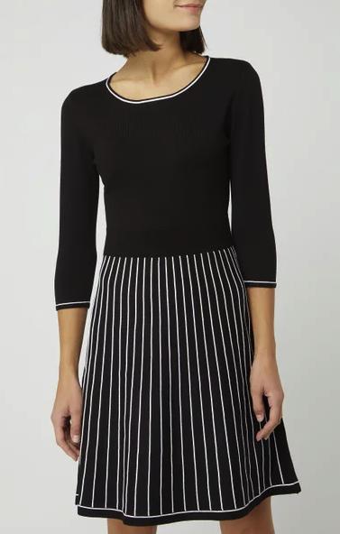 Montego Minikleid im 2-in-1-Look in grau-schwarz für 44,99€ inkl. Versand (statt 60€)