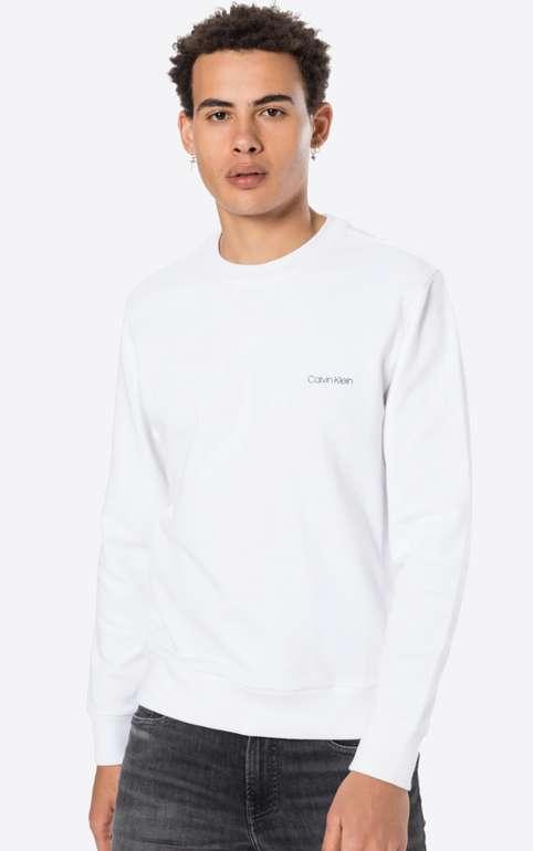 Calvin Klein Herren Sweatshirt in Weiß für 38,24€ inkl. Versand (statt 50€)