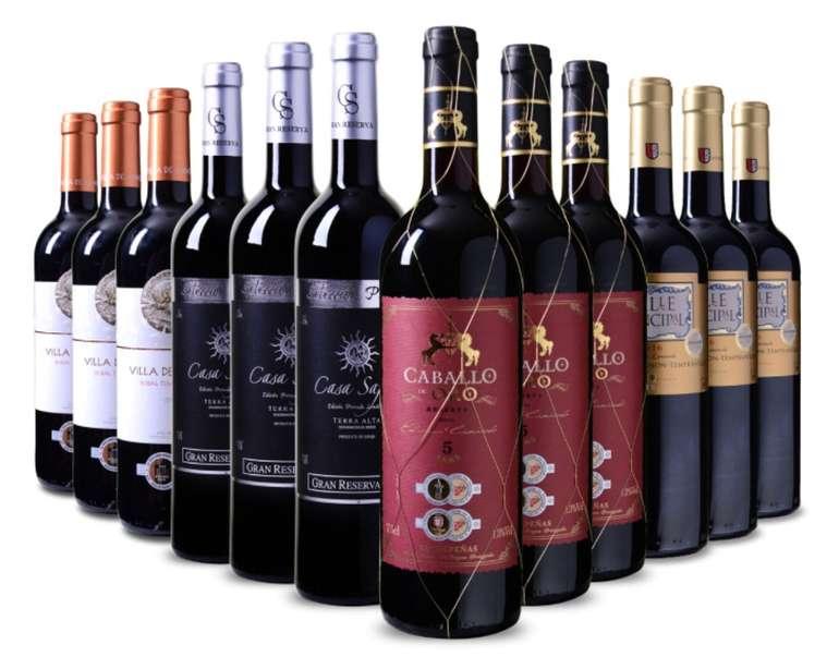 Spanisches Medaillenpaket bestehend aus 12 Flaschen Wein für 49,88€