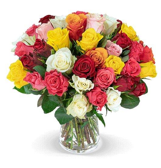 """Blumenstrauß mit 45 bunten Rosen """"CrazyColors"""" für nur 24,98€ inkl. VSK"""