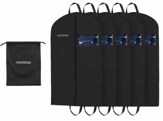 5er Pack Esonmus Anzugsäcke bzw. Kleiderschutz für 12,34€ inkl. Prime Versand