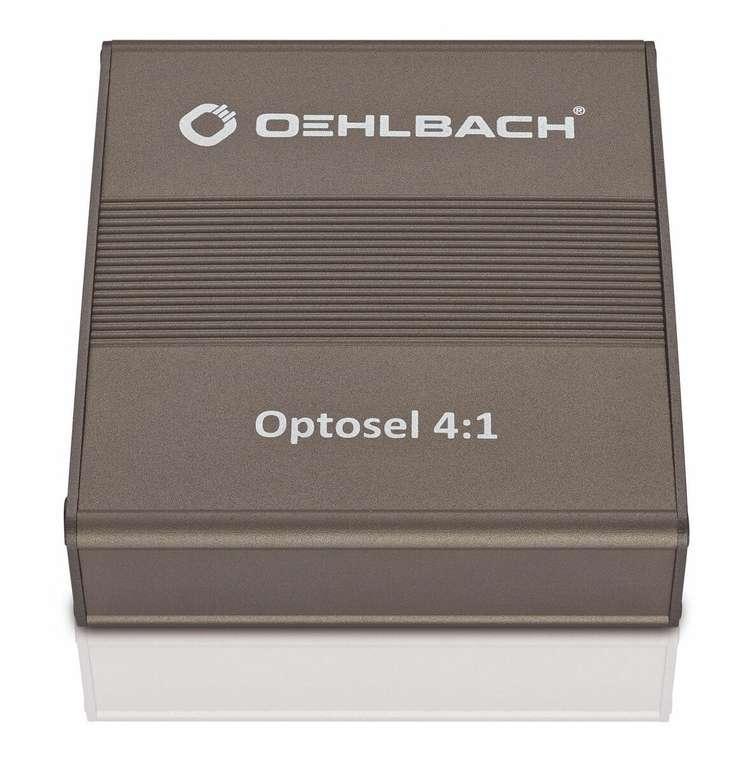 Oehlbach Optosel Toslink - Optischer Verteiler (4:1) mit Fernbedienung für 15€ inkl. Versand (statt 26€)