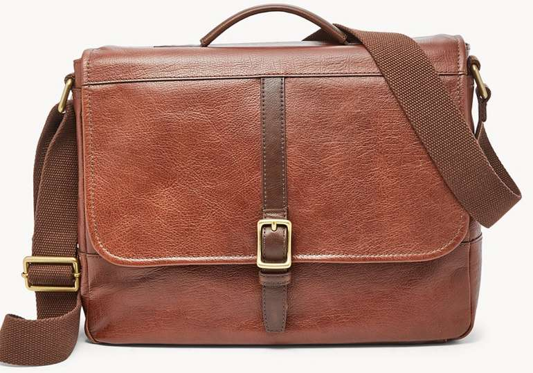 Fossil Herren Tasche Evan Commuter in Braun für 65,70€ inkl. Versand (statt 157€)