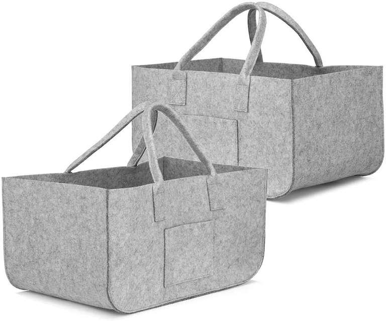 Sawake faltbare Filztasche im Doppelpack (50 x 25 x 25 cm) für 15,18€ inkl. Prime Versand (statt 22€)