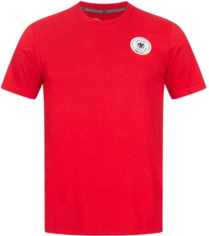 DFB Deutschland Fanatics Value Small Crest Herren T-Shirt in Rot für 9,50€ inkl. Versand (statt 20€)