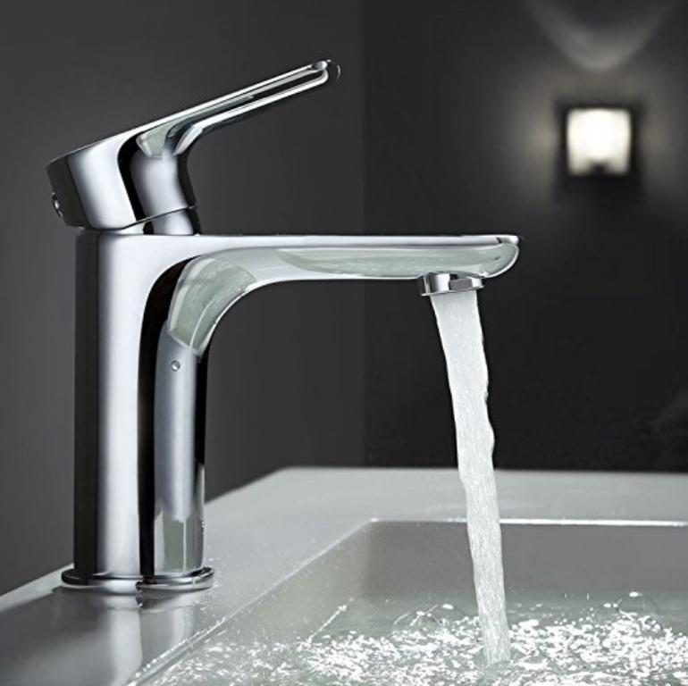 Homelody  - Desfau Chrom Waschbecken-Wasserhahn für 19,99€ mit Prime