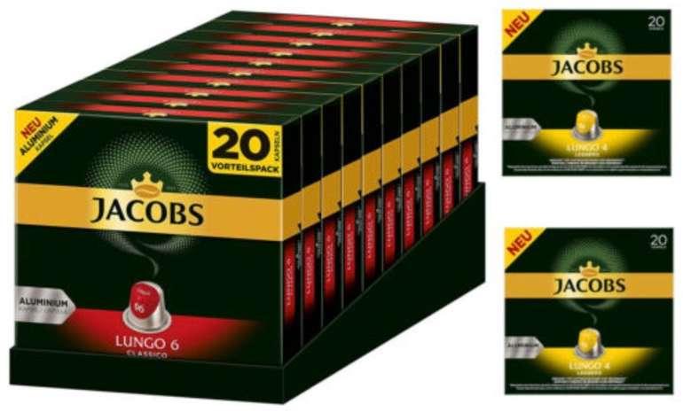 Jacobs Kapseln: 200 Lungo Classico + 40 Lungo Leggero (Nespresso kompatibel) für 34,90€