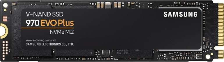 Samsung 970 Evo Plus mit 500GB (bis zu 3.500 MB/s) interne SSD-Festplatte für 64,90€ inkl. Versand (statt 84€)