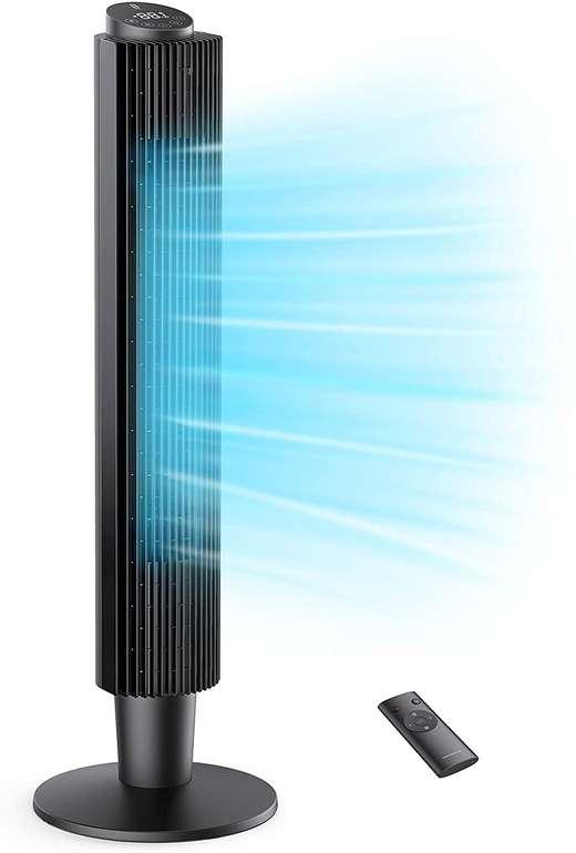 TaoTronics TT-TF005 Turmventilator (91 bis 106cm, 3 Lüftermodi) für 59,99€ (statt 80€)