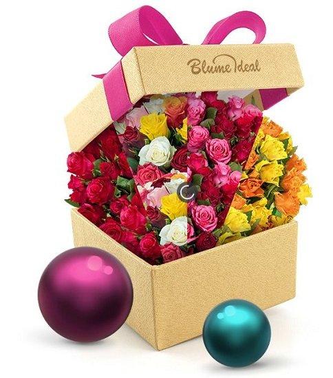 Blume Ideal Rosenüberraschung: Strauß mit 42 bunten Rosen für 24,98€