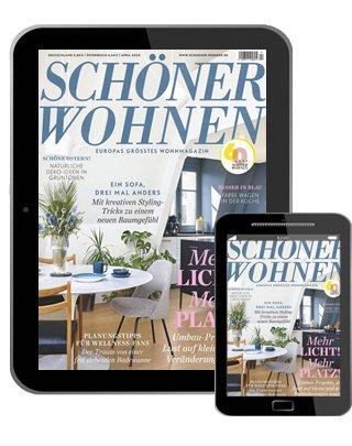 Schöner Wohnen E-Paper Jahresabo für 44,08€ + 40€ BestChoice Premium Gutschein oder 40€ Verrechnungsscheck