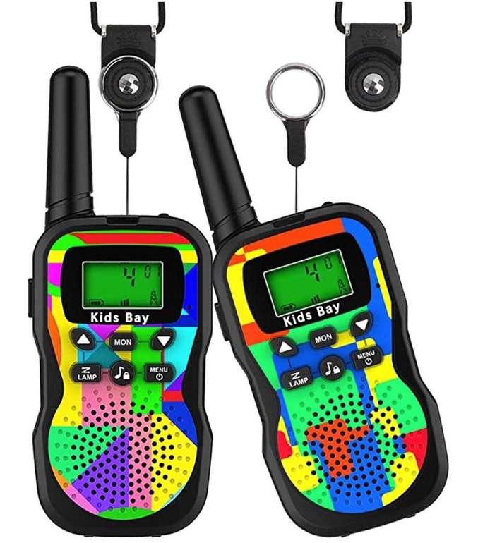 2er Pack Kids Bay Walkie Talkie Funkgeräte (8 Kanäle, bis zu 3 km Reichweite) für 14,84€ inkl. Prime Versand