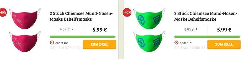 2er Pack Chiemsee Mund-Nasen-Masken 2
