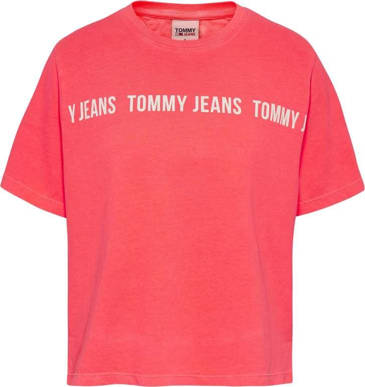 "Tommy Jeans Shirt ""Tja Bxy Crop Tape Ss Te"" in Hellpink für 14,95€ inkl. Versand (statt 24€)"