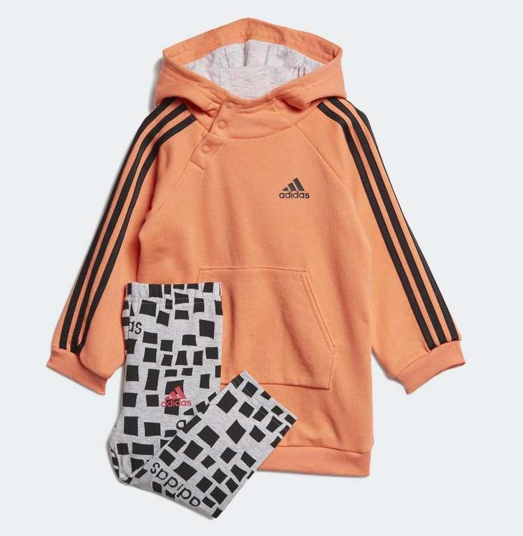 """Adidas Mädchen """"Hooded Kleid Set"""" (Größe 62 bis 86) für 21,26€ inkl. Versand (statt 34€)"""