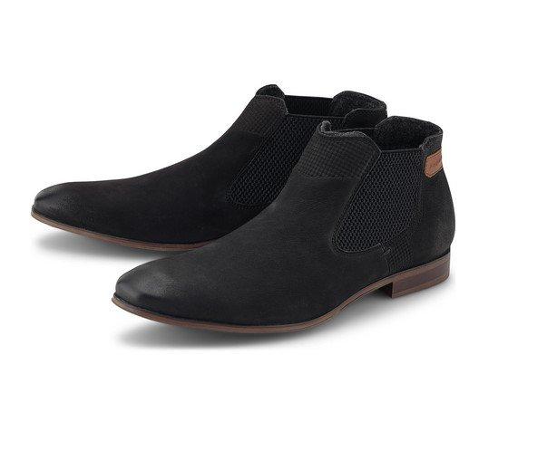 bugatti City Chelsea-Boots Herren in schwarz für 44,77€ inkl. Versand (statt 55€)