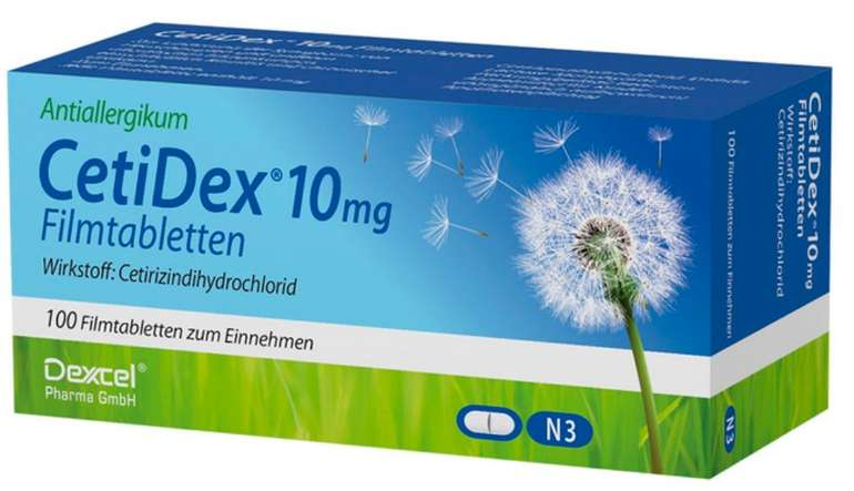 Für Allergiker: 2x 100er Pack Cetidex Filmtabletten (10mg) für 10,98€ inkl. Versand (statt 15€)