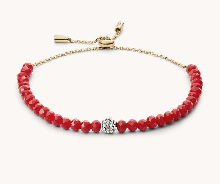 Fossil Damen Armband Red Brass Bracelet (JOA00563710) für 14€ inkl. Versand (statt 38€)