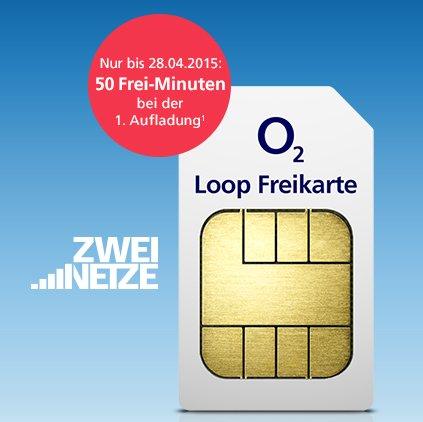 o2 Loop Freikarte - Bis zu 2 Prepaid SIMs mit je 1€ Guthaben kostenlos